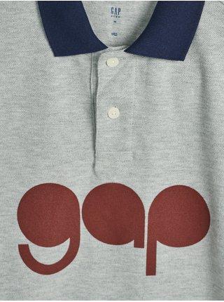 Šedé klučičí polo tričko GAP