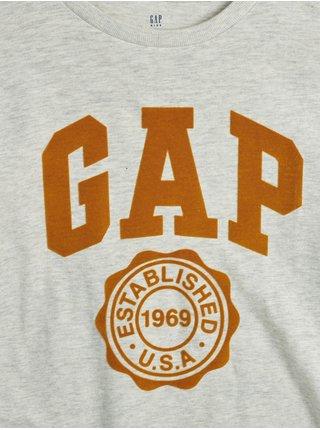 Šedé klučičí tričko s logem GAP