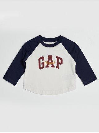 Bílé klučičí tričko s logem GAP