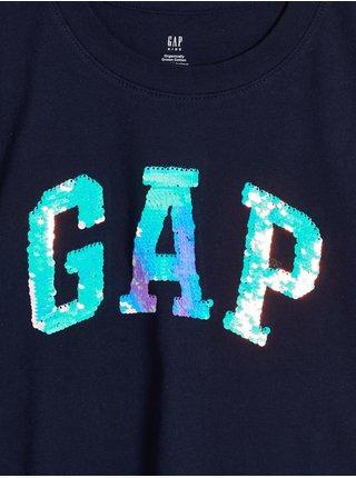 Modré holčičí tričko s logem GAP