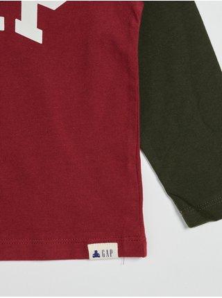 Červené klučičí tričko s logem GAP