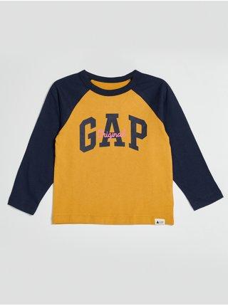 Žluté klučičí tričko s logem GAP