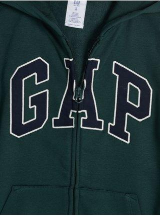 Zelená klučičí mikina na zip GAP