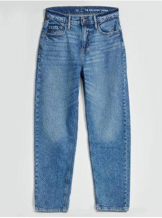 Modré klučičí džíny relax taper