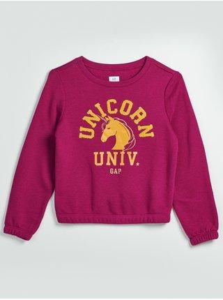Růžový holčičí svetr Unicorn