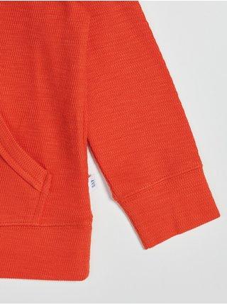 Oranžová klučičí mikina s klokaní kapsou