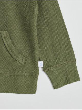 Zelená klučičí mikina s klokaní kapsou