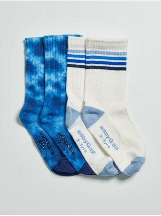 Barevné klučičí vysoké ponožky, 2 páry