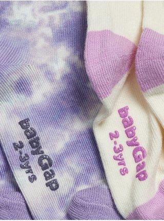 Barevné holčičí vysoké ponožky, 2 páry