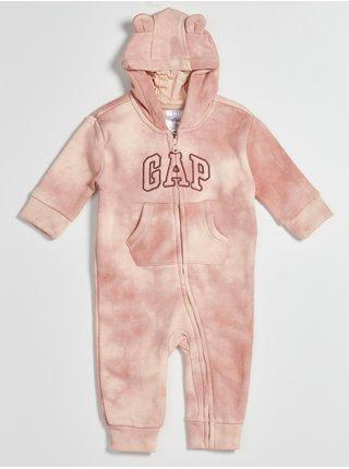 Růžový holčičí overal batikovaný GAP
