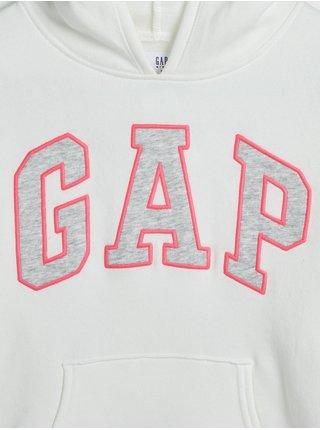 Bílá holčičí mikina s logem GAP