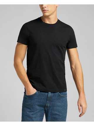 Tričká s krátkym rukávom pre mužov Lee - čierna