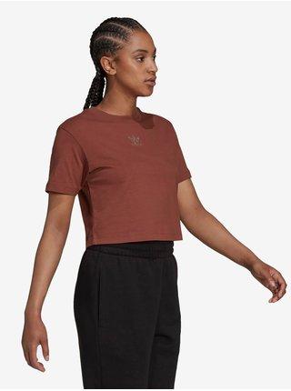 Tričká s krátkym rukávom pre ženy adidas Originals - hnedá