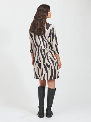 Černo-béžové vzorované šaty VILA Jersa
