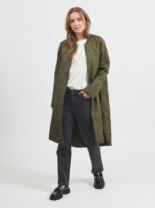 Khaki prošívaný kabát VILA Quila