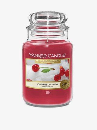 Vonná sviečka Yankee Candle Cheriies On Snow (classic veľká)