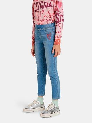 Modré holčičí zkrácené slim fit džíny Desigual Cleo
