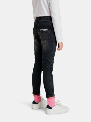 Černé holčičí zkrácené slim fit džíny Desigual Cleo