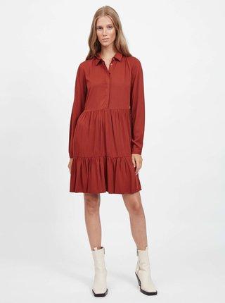 Tehlové košeľové šaty VILA Morose