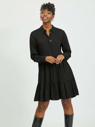 Čierne košeľové šaty VILA Morose