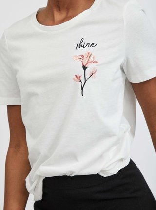 Bílé tričko VILA Shine