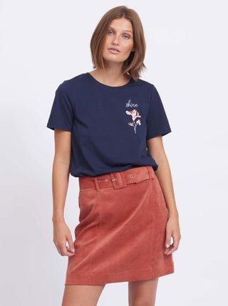 Tmavomodré tričko VILA Shine