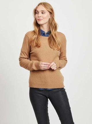 Hnedý sveter VILA Ril