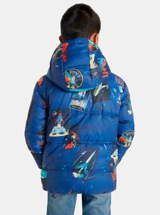 Modrá klučičí vzorovaná bunda Desigual Atlantico