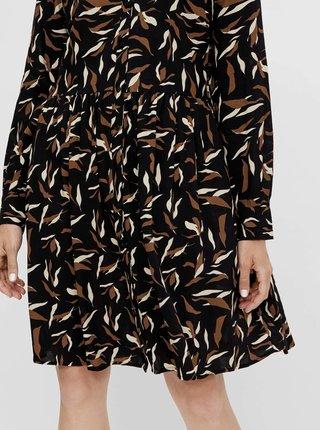 Čierne vzorované košeľové šaty .OBJECT Lorena