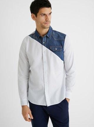 Modro-bílá pánská košile Desigual Camilo