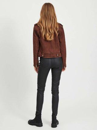 Čierne koženkové skinny fit nohavice .OBJECT Belle