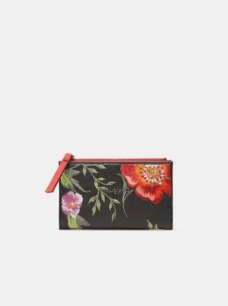 Černá dámská květovaná peněženka Desigual Niagara Emma