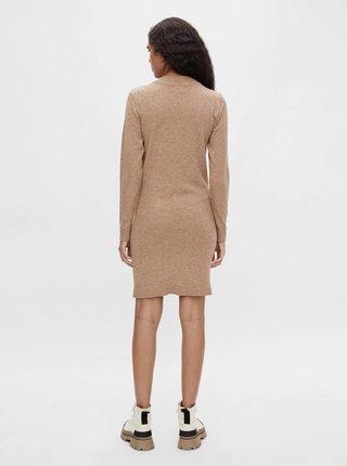 Svetlohnedé svetrové šaty .OBJECT Hess