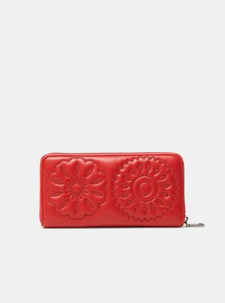 Červená dámska prešívaná peňaženka Desigual Big Big Fiona