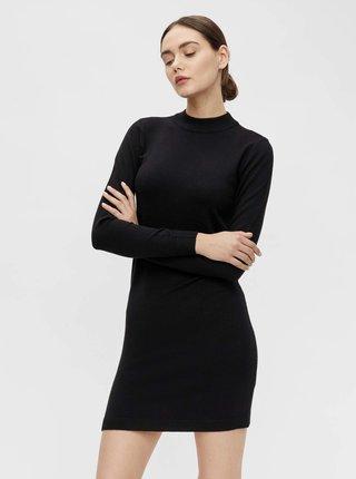 Černé svetrové šaty .OBJECT Hess