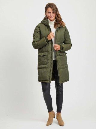 Kaki prešívaný zimný kabát .OBJECT Zhanna