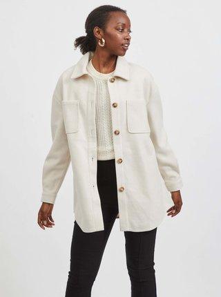 Krémová košilová bunda VILA Kimmi