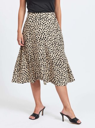 Čierno-béžová vzorovaná sukňa VILA Vish