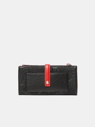 Červeno-černá dámská vzorovaná peněženka Desigual Deja Vu Pia
