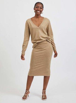 Béžová púzdrová sukňa VILA