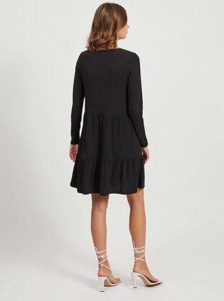 Černé žebrované šaty VILA Elita