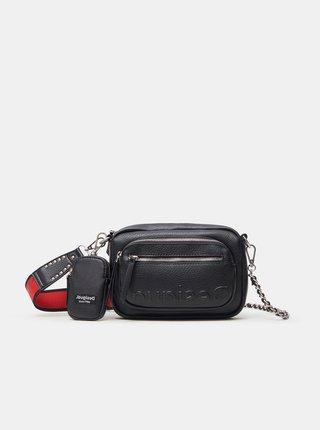 Čierna dámska crossbody kabelka Desigual Embossed Half Cambridge Mini
