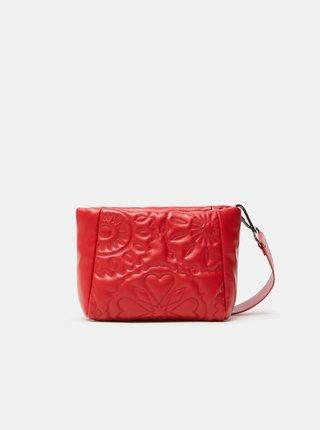 Červená dámska prešívaná crossbody kabelka Desigual Big Big Amber