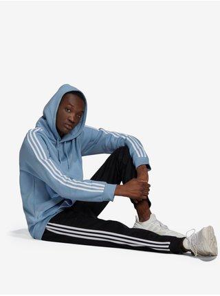 Mikiny s kapucou pre mužov adidas Originals - modrá