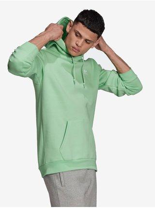 Mikiny s kapucou pre mužov adidas Originals - zelená