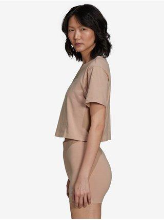 Tričká s krátkym rukávom pre ženy adidas Originals - hnedá, béžová
