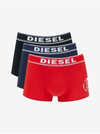 Boxerky pre mužov Diesel - čierna, modrá, červená