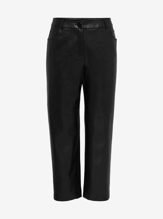 Černé koženkové kalhoty ONLY CARMAKOMA Sandy