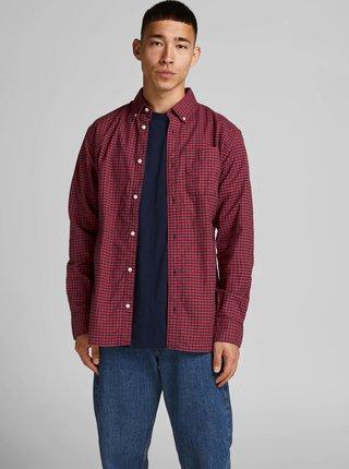 Červeno-modrá kostkovaná košile Jack & Jones Blubrook