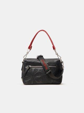 Čierna dámska vzorovaná crossbody kabelka Desigual Deja Vu Phuket Mini